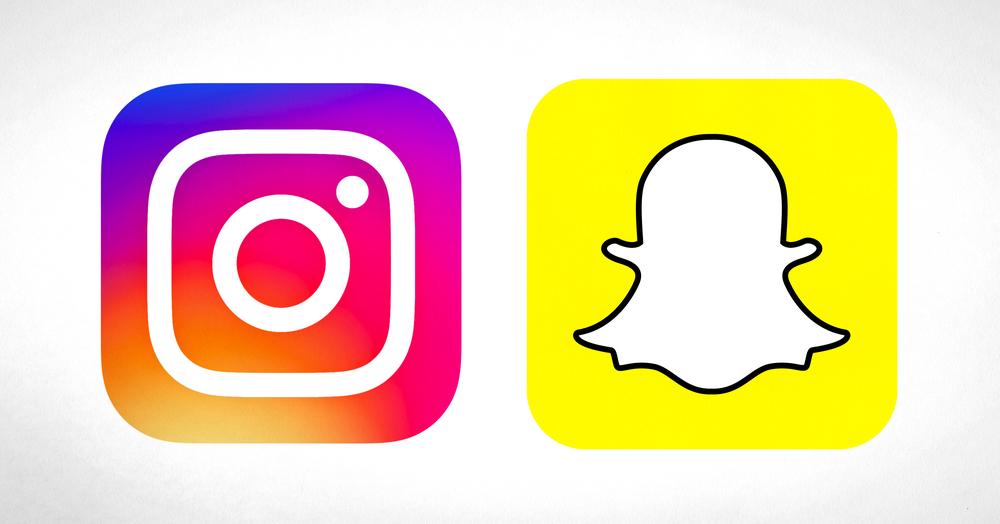 Instagram-Snapchat-Logos