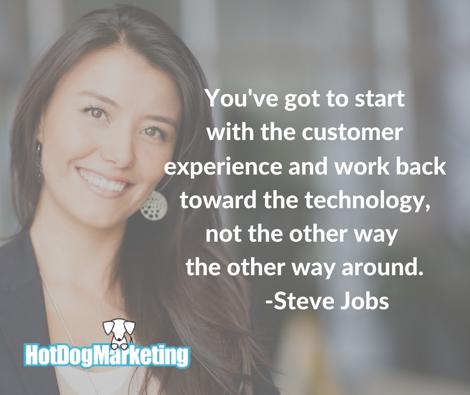 content marketing customer experience technology steve jobs