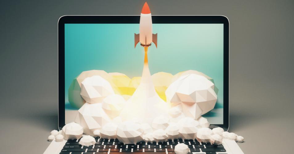 Rocket-Ship-Laptop-Launch-Project-Hot-Dog-Marketing