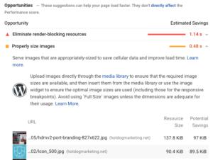 Core Web Vitals Fix Suggestions